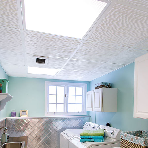 Clean and bright whites DIY ceiling project