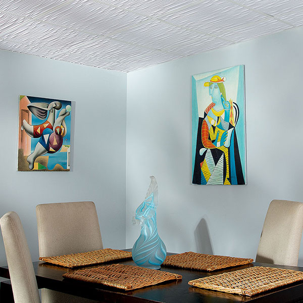 A dramatic dining area with depth DIY ceiling project
