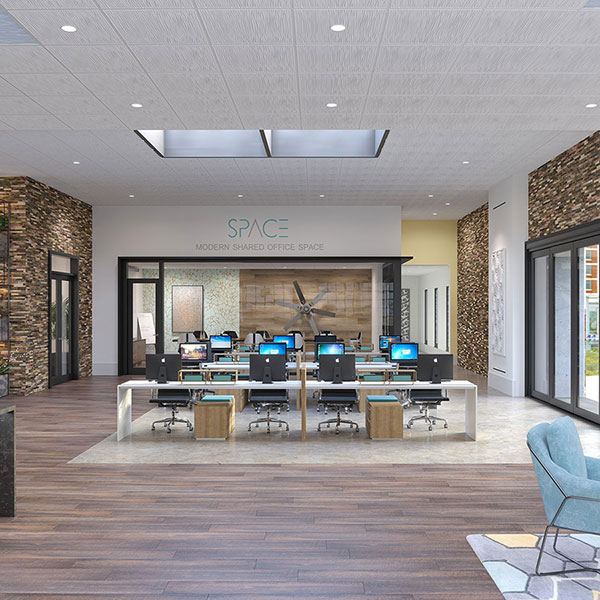 Stylish shared office space DIY ceiling project