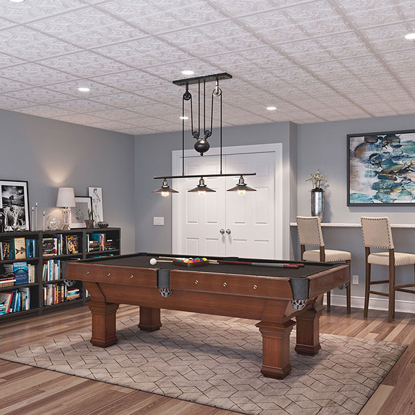 A grand game space DIY ceiling project