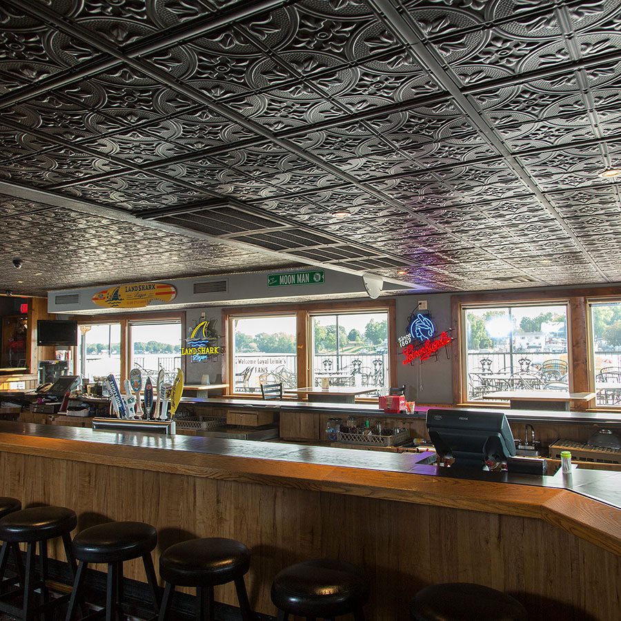 A Tastefully Traditional Tavern Ceiling