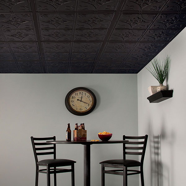 Cozy corner accented with traditional tiles DIY ceiling project