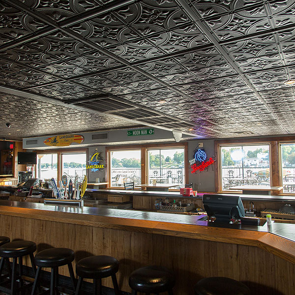 A tastefully traditional tavern ceiling DIY ceiling project