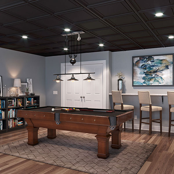 Dramatic ceiling creates overhead focal point DIY ceiling project