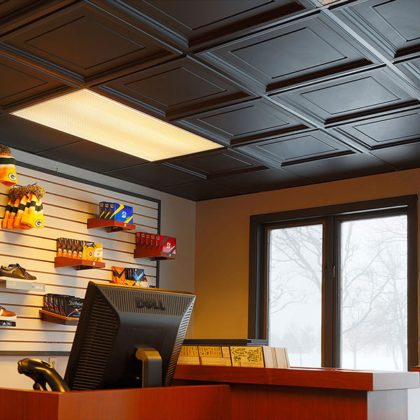 A striking store ceiling DIY ceiling project
