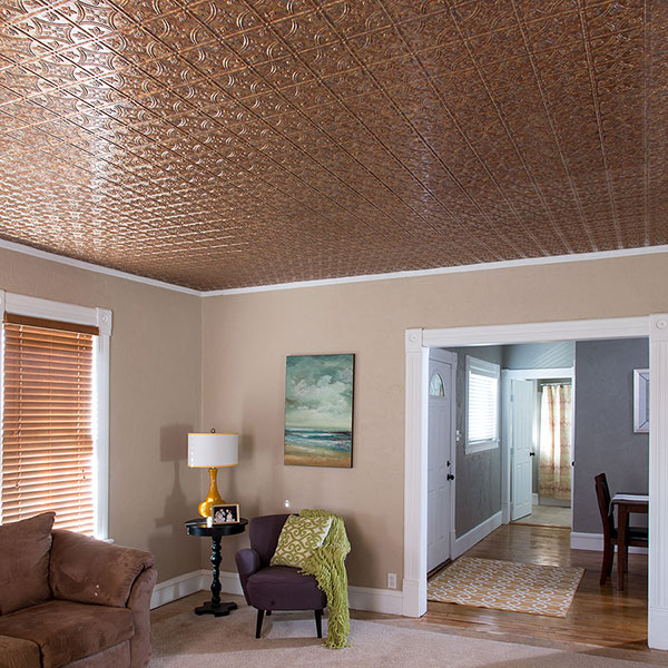 Modern living with a nod to tradition DIY ceiling project