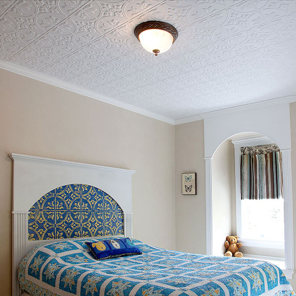 Cozy child's bedroom DIY ceiling project