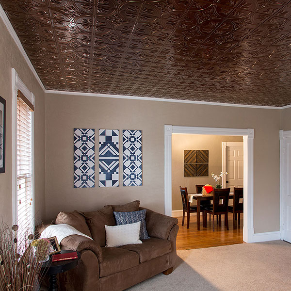 Classically cozy sitting room DIY ceiling project