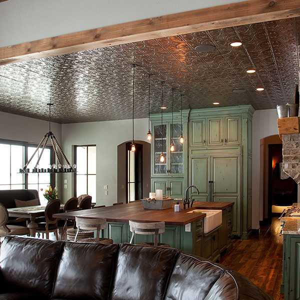 Gourmet and grand DIY ceiling project