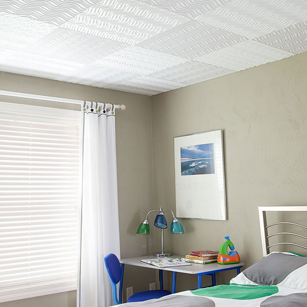 Cool and contemporary kids room DIY ceiling project