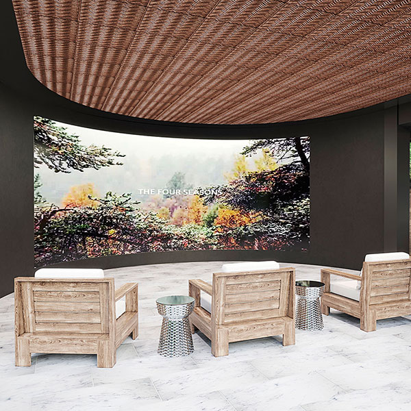 A graceful gathering space DIY ceiling project