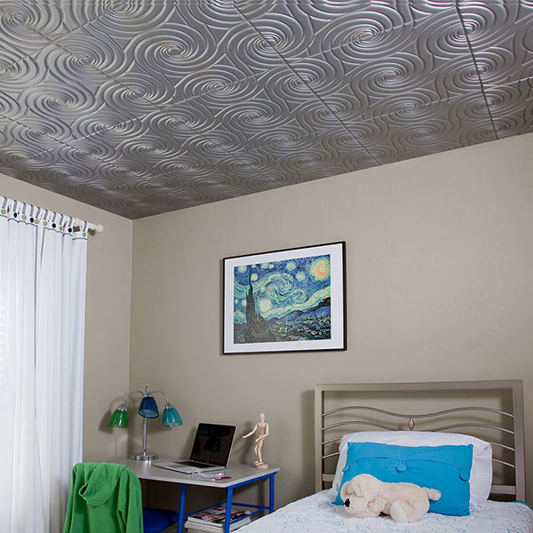 A serene space for slumber DIY ceiling project