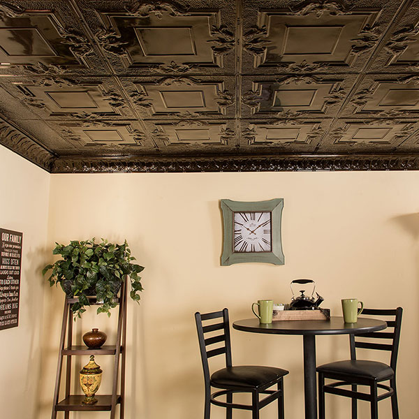 Stately seating for two DIY ceiling project