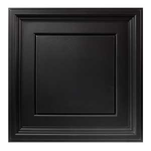Dramatic Ceiling Creates Overhead Focal Point-Genesis Icon Coffer in black