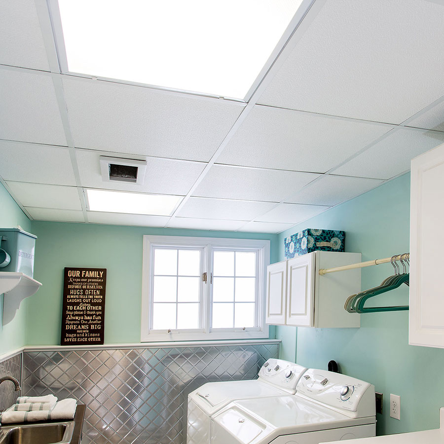 A Pristine Clean Laundry Room