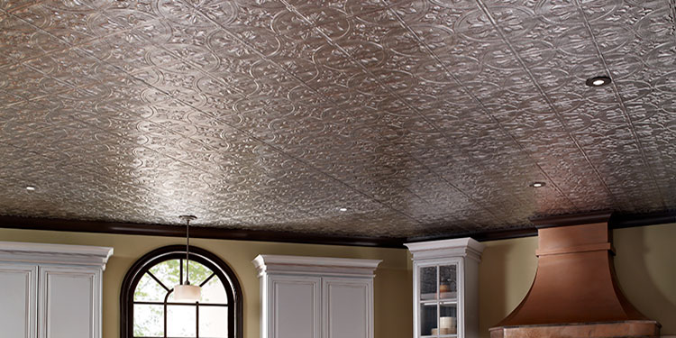 ceiling with faux tin