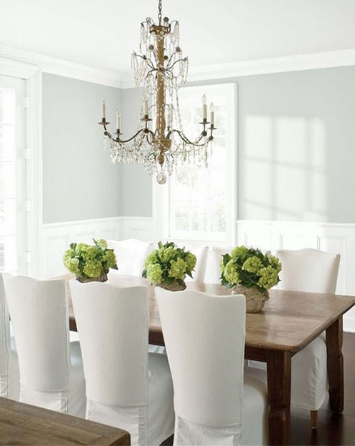 placid palette creates casual, formal dining painted ceiling project