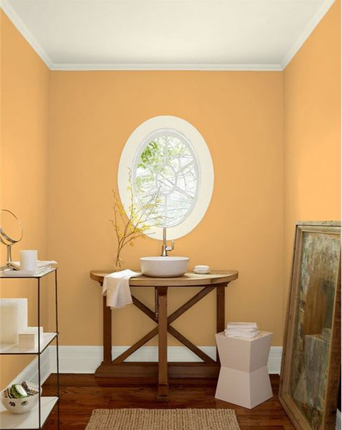 A Soft and Sun-Kissed Powder Room