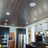 Tall Ceiling With a Tin Look
