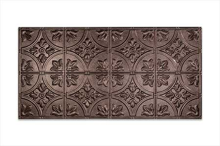 Faux Tin Adds the Finishing Touch-Fasade Traditional 2 in smoked pewter