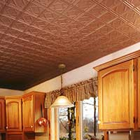 Copper Ceiling Accents Traditional Kitchen