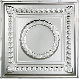 Tastefully Traditional Mix of Materials-Fasade Rosette in Brushed Aluminum