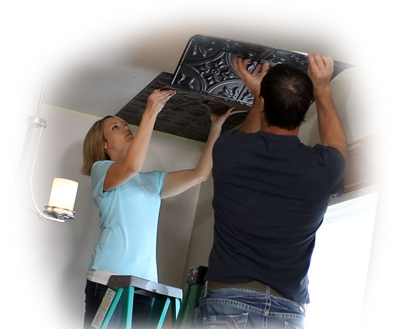 direct apply ceiling installation