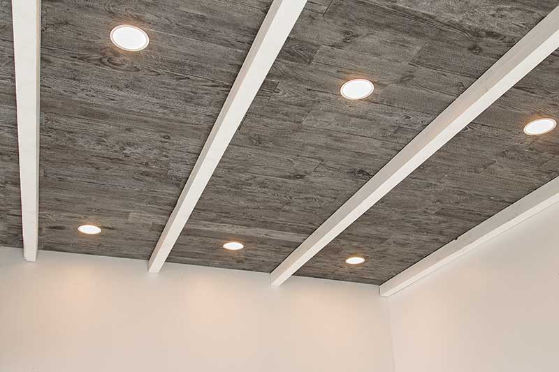 basement ceiling with Rustic Grove Barn Board-9 simple DIY basement ceiling projects