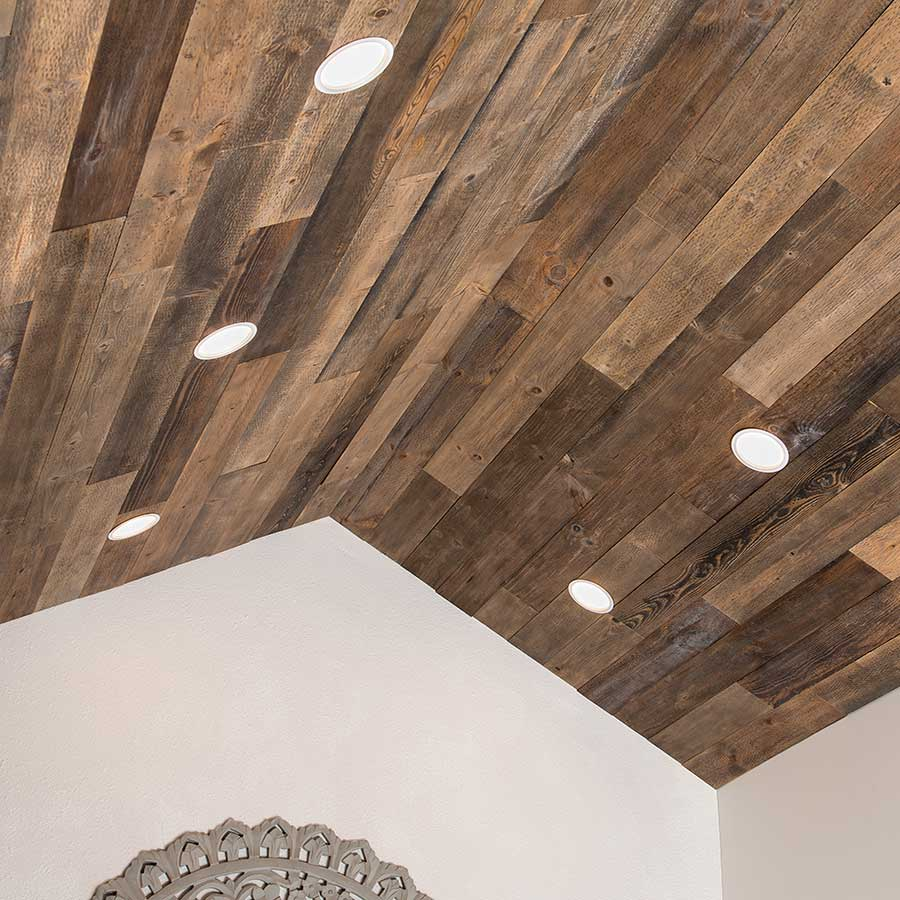 Wood Ceiling Adds Warmth to Living Space