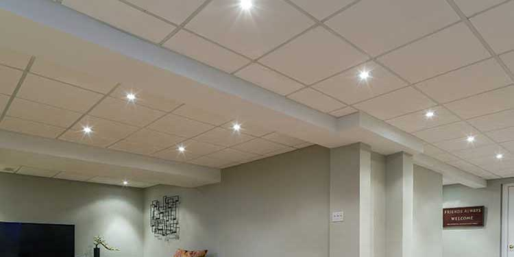 mineral board basement ceiling-9 simple DIY basement ceiling projects