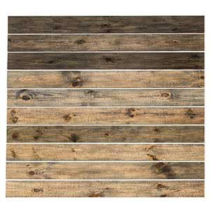 Rustic Grove wood planks in mixed brown- a warm, rustic space